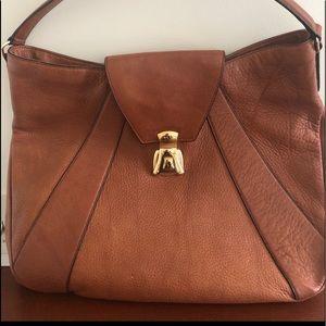 😁 Brown Ralph Lauren purse with gold buckle
